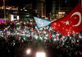نورپردازی پرچم فلسطین روی برخی ساختمانهای ترکیه+ عکس