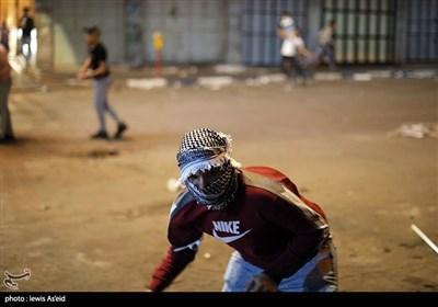 درگیری سربازان اسرائیلی با جوانان فلسطینی