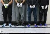 فیلم| لحظه حمله سارقان مسلح به چند طلافروشی + تصاویر بازداشت سارقان