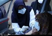 واکسیناسیون خودرویی کرونا در آران و بیدگل به روایت تصویر