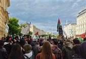 تظاهرات گسترده علیه جنایات رژیم صهیونیستی در پایتخت اتریش+تصاویر