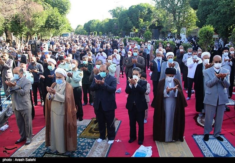 نماز عید فطر در قزوین به روایت تصویر