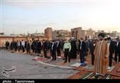 اقامه نماز عید فطر در محوطه شهیدگاه اردبیل + تصاویر