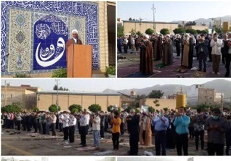 برپایی نماز عید فطر در ایلام به روایت تصویر