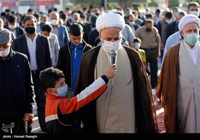 اقامه نماز عید سعید فطر در ابهر