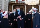 برپایی نماز عید سعید فطر در دمشق با حضور بشار اسد