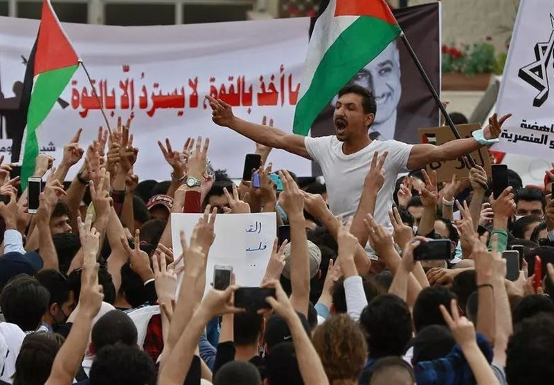 Jordanians Rally in Amman in Support of Palestine (+Video)