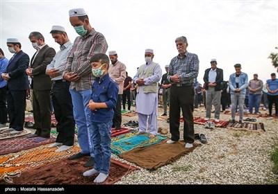 نماز عید فطر در بندر ترکمن