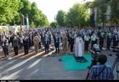 اقامه نماز عید فطر در کرج به روایت تصویر