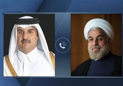 Iran's Rouhani, Qatari Emir Underline Immediate End to Israeli Attacks on Palestinians