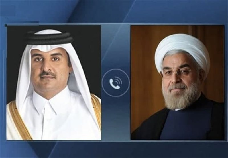 Iran's Rouhani, Qatari Emir Underline Immediate End to Israeli Attacks on Palestinians