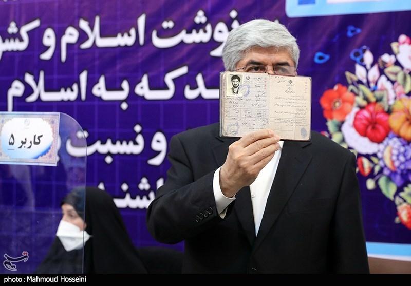 حضور علی مطهری در ستاد انتخابات کشور