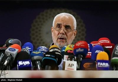 نشست خبری محسن مهرعلیزاده در ستاد انتخابات کشور