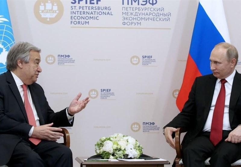 گفتگوی تلفنی پوتین و گوترش درباره تحولات اخیر سرزمینهای اشغالی