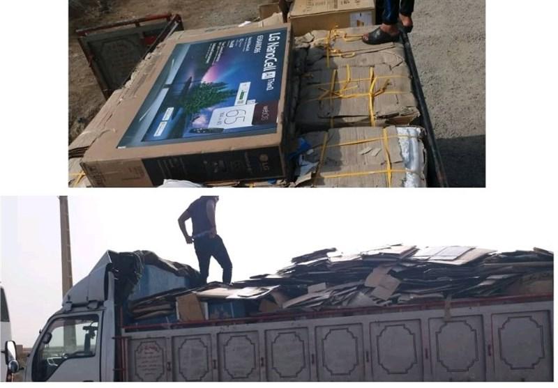 محموله قاچاق لوازم منزل با پوشش ضایعات در محور دیلم استان بوشهر کشف شد