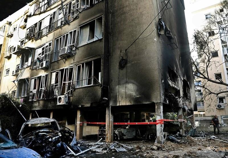 تصاویر اختصاصی گردانهای قسام از خسارات موشکی در شهرهای رژیم صهیونیستی