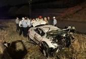 5 کشته بر اثر واژگونی پژو 206 در بزرگراه شهید یاسینی + فیلم و تصاویر