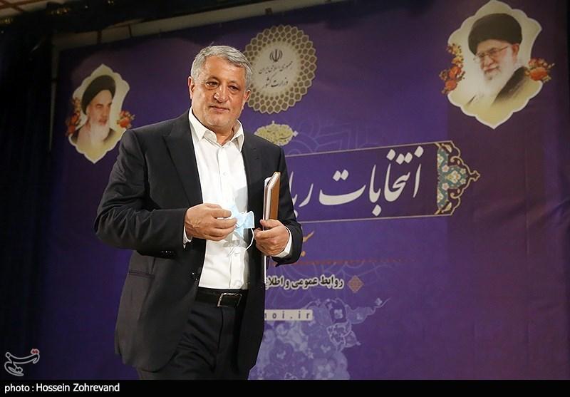 حضور محسن هاشمی در ستاد انتخابات کشور