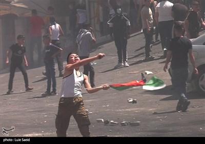 الشعب الفلسطینی فی مواجهة مستمرة مع جنود کیان الاحتلال الصهیونی