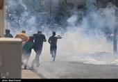 کرانه باختری| یورش نظامیان صهیونیست به نابلس؛ دهها نفر دچار حالت خفگی شدند