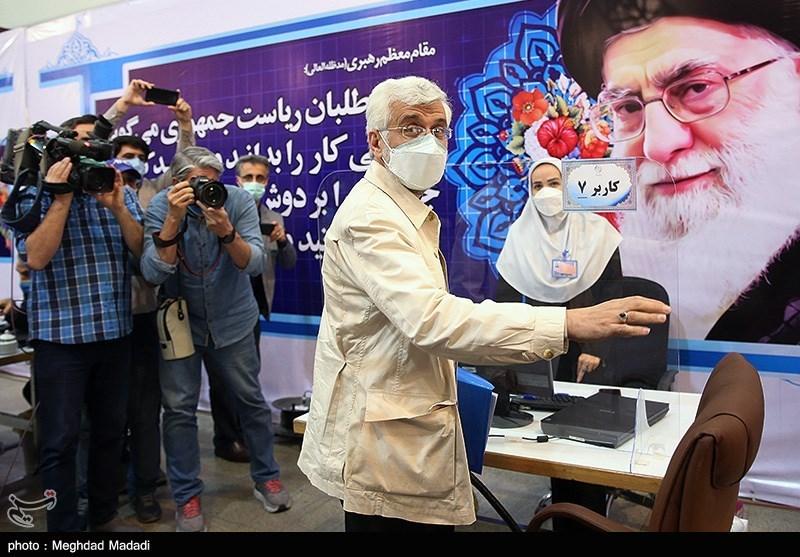 حضور سعید جلیلی در ستاد انتخابات کشور