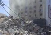 برج «اندلس» غزه بمباران شد