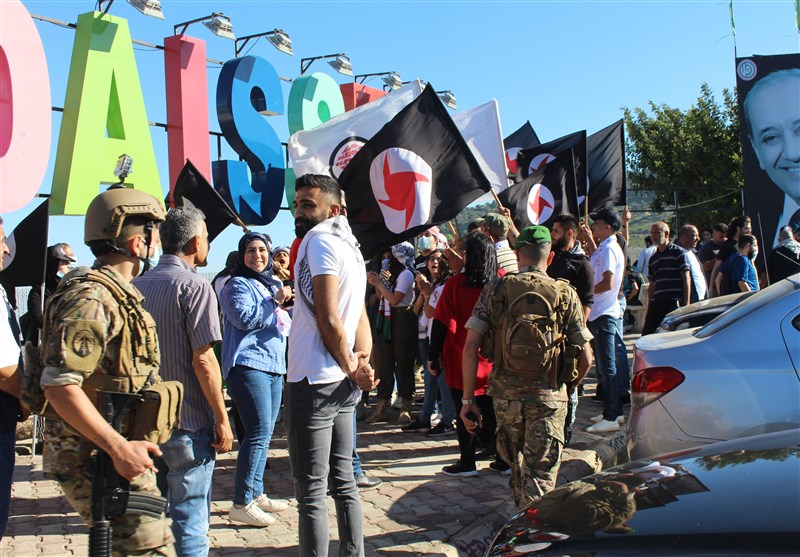 Gathering Held at Lebanese Border with Occupied Territories in Support of Palestine (+Video)