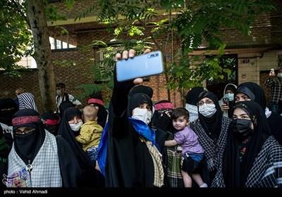 تجمع در محکومیت جنایات رژیم صهیونیستی در مقابل سفارت فلسطین در تهران