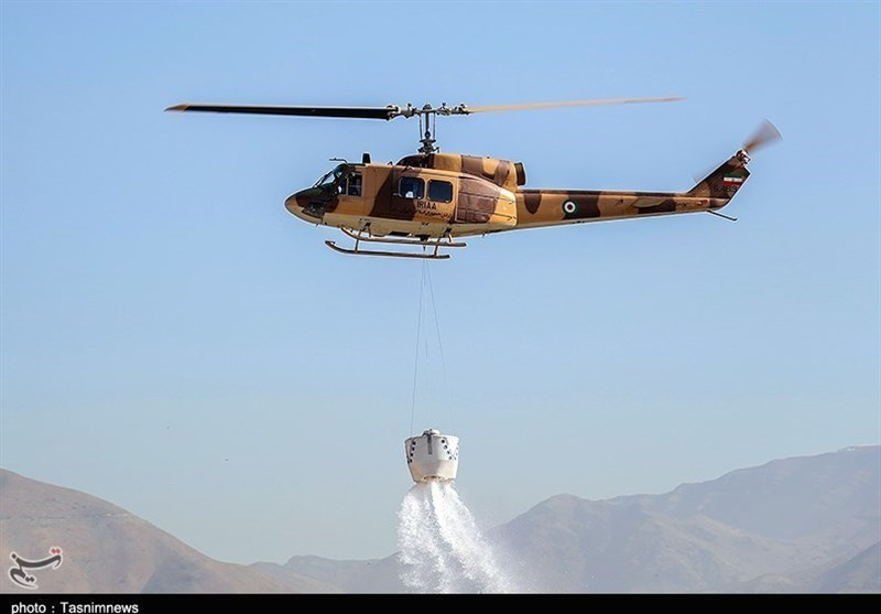 Military Copters Flown to Put Out Wildfire in South Iran