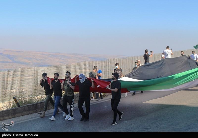 تجمع احتجاجی على الحدود اللبنانیة مع فلسطین المحتلة
