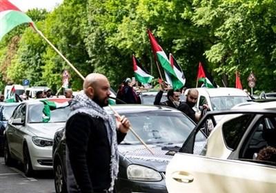 برگزاری اعتراضات خودرویی در همبستگی با فلسطینیان در برلین