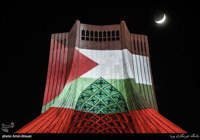 ویدئو مپینگ برج آزادی جهت اعلام همدردی بامردم مظلوم غزه