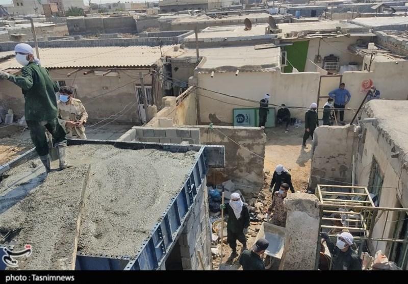 گروههای جهادی 235 منزل را برای محرومان بندر امام (ره) بازسازی کردند + فیلم