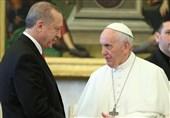 گفتوگوی اردوغان و پاپ درباره وضعیت فلسطین