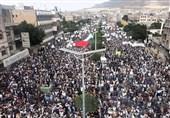 صنعاء تحتشد تضامنا مع الشعب الفلسطینی ومقاومته