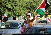 راهپیمایی خودرویی مردم کرمان در حمایت از مردم فلسطین به روایت تصویر