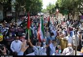 راهپیمایی نمازگزاران قزوینی در محکومیت رژیم صهیونیستی به روایت تصویر