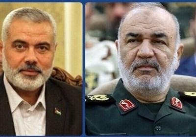 گفتوگوی تلفنی سردار سلامی و اسماعیل هنیه درباره پیروزی مقاومت فلسطین