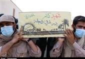 بندر شهید رجایی میزبان شهدای گمنام/ تشییع پیکر مطهر 2 شهید گمنام در بزرگترین بندر تجاری ایران