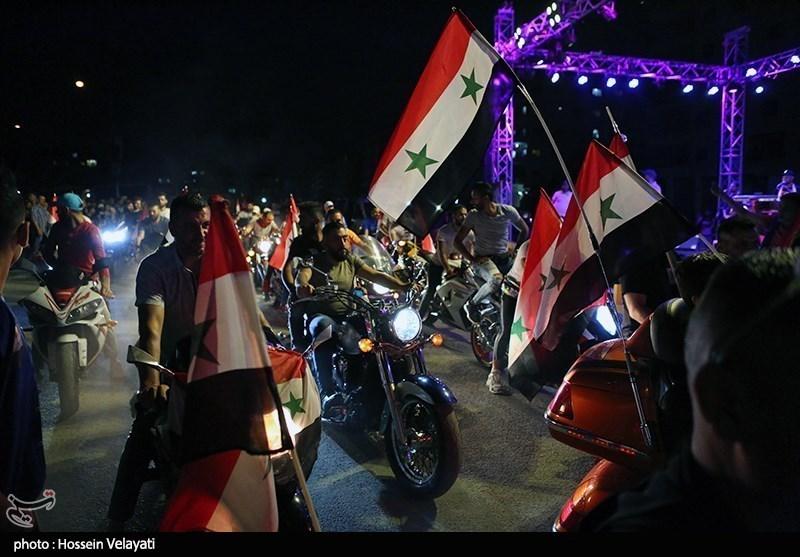 الدعایة الانتخابیة الخاصة بالانتخابات الرئاسیة السوریة فی دمشق