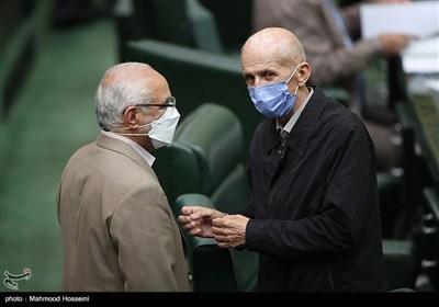 بیژن نوباوه و عبدالرضا مصری در صحن علنی مجلس شورای اسلامی
