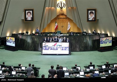 مراسم تحلیف اعضای جدید هیأت رئیسه مجلس شورای اسلامی
