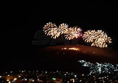 جشن و پایکوبی مردم سوریه پس از پیروزی اسد در انتخابات ریاست جمهوری+تصاویر