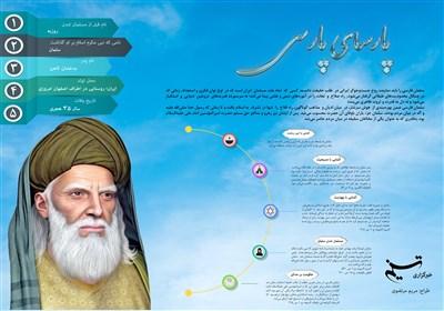 اینفوگرافی مهمترین رویدادهای زندگی سلمان فارسی
