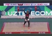 حمایت بانوی وزنهبردار تونسی از ملت فلسطین پس از کسب 3 مدال طلا + عکس