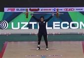 وزنهبرداری جوانان جهان| مدال برنز یک ضرب جهان از آن بانوی ایرانی شد