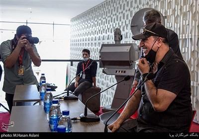 حمید فرخ نژاد در نشست خبری فیلم (میجر) در ششمین روز سیوهشتمین جشنواره جهانی فیلم فجر در پردیس سینمایی چارسو