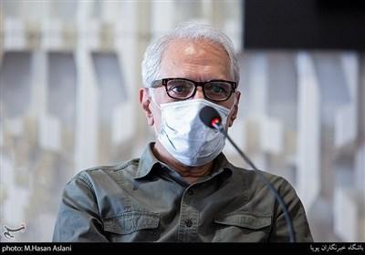 محمود کلاری در نشست خبری فیلم (میجر) در ششمین روز سیوهشتمین جشنواره جهانی فیلم فجر در پردیس سینمایی چارسو