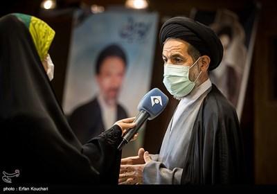 سید محمدحسن ابوترابی در جمع خبرنگاران