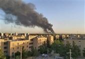 آتشسوزی گسترده در پالایشگاه تهران + فیلم و تصاویر